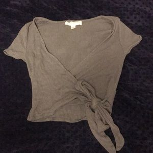 UO project social t Bailey wrap top